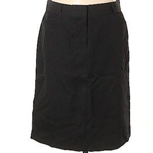 J. Crew Black Wool Pencil Skirt Size 8